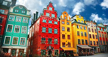 Colorful architecture in Stockholm, Sweden