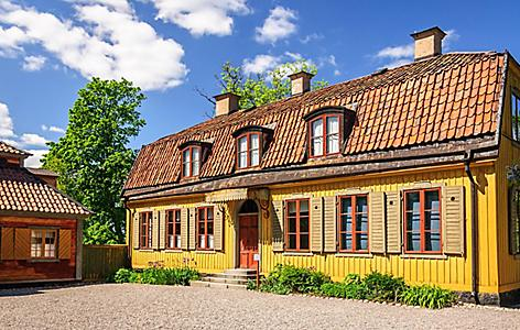 A traditional house in Stockholm, Sweden