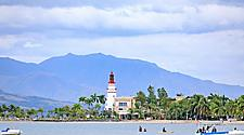 Lighthouse on the coast of Subic Bay, Philippines