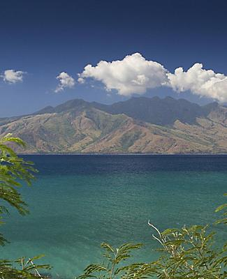 View of a volcano from Subic Bay, Philippines