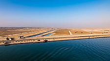Coastal view of the Suez Canal
