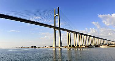 The Suez Canal bridge