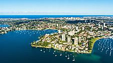 Aerial view of Double Bay in Sydney, Australia