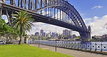 The Sydney Harbour Bridge in Sydney, Australia
