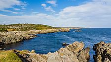 Rocky coastline in Sydney, Nova Scotia
