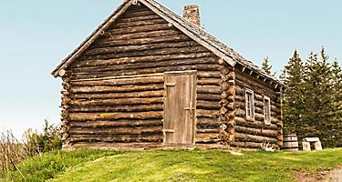 A historic log cabin in Sydney, Nova Scotia