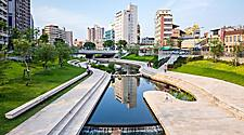 Riverside Park in Taichung, Taiwan, China