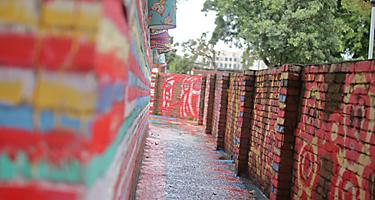 Painted walls of the Rainbow Village in Taiwan, China