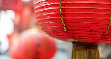 Red lanterns in Taiwan