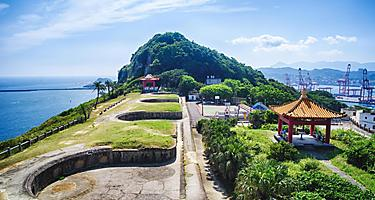 The Baimiweng Fort in Keelung, Taiwan