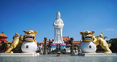 Giant Buddha statue in Keelung, Taiwan