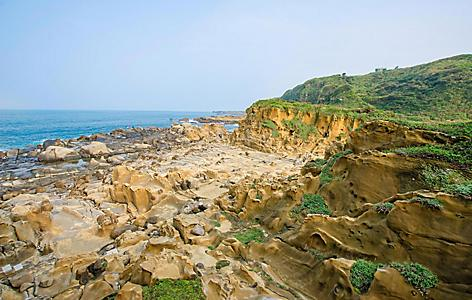 Rocky coast of Hi Park in Taiwan
