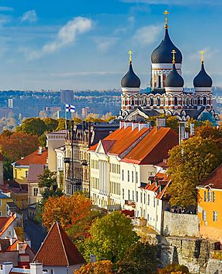 View of the Tallinn, Estonia cityscape