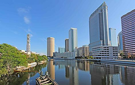 tampa florida downtown skyline