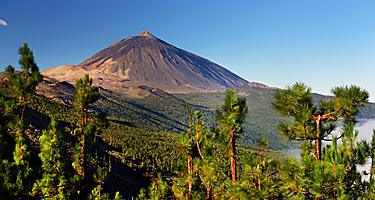 View of the volcanic landscape of El Teide National Park in Tenerife, Canary Islands