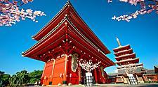 The Sensoji Temple in Tokyo, Japan