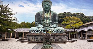 A bronze statue of the Great Buddha in Japan