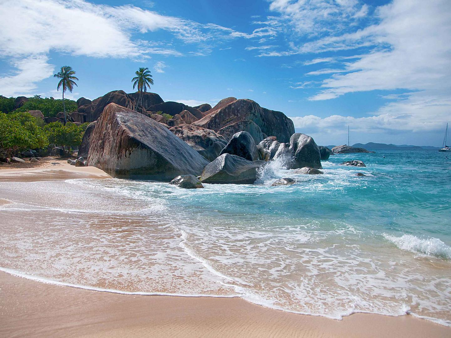 Tortola, British Virgin Island Rocks Beach Shore