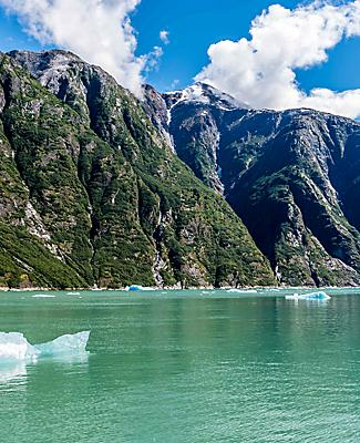 tracy arm fjord alaska seascape mountainside ocean