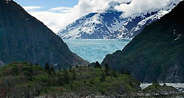 tracy arm fjord alaska twin sawyer glaciers tidewater ice iceberg