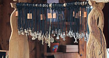 Various hand crafted necklaces for sale in Norway