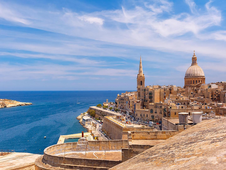 Valletta, Malta, Coastal view