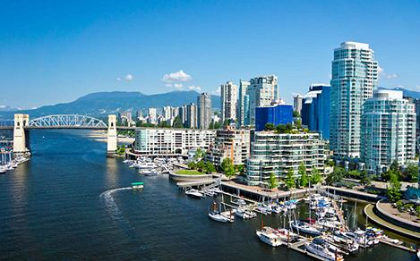vancouver british columbia harbour downtown waterfront skyline cityscape