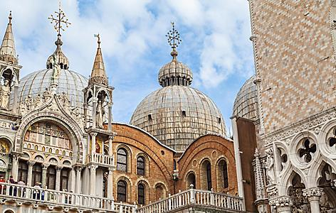 The San Marco basilica in Venice, Italy