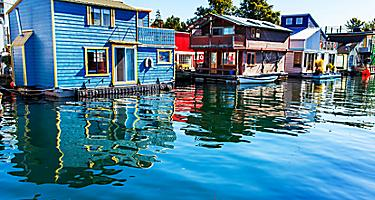 victoria british columbia fishermans wharf shopping houses