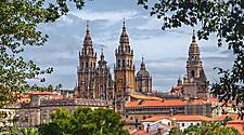 The Cathedral of Santiago de Compostela in Spain