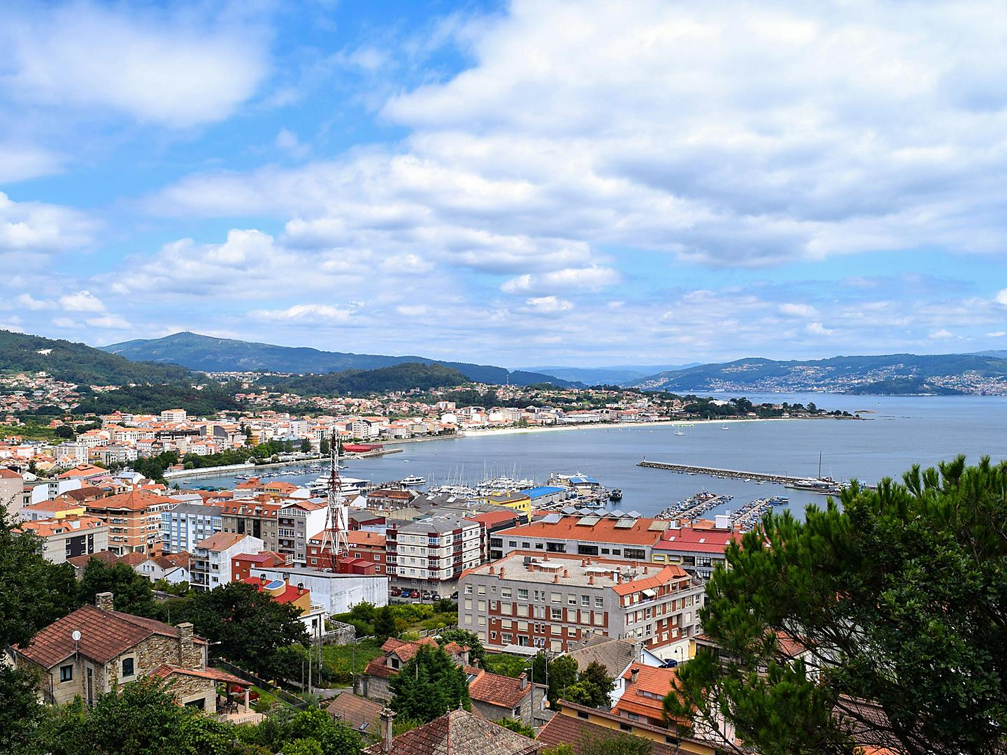 Vigo, Spain, Hilltop city view