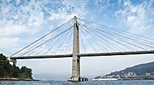 The Rande Bridge over the Vigo River in Spain