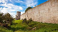 The defensive wall at Visby, Sweden