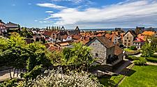 Panoramic view of the city of Visby in Sweden