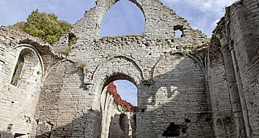 Old ruins of a building in Visby, Sweden
