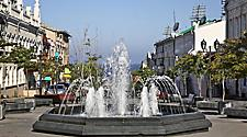 Waterfountain on Admiral Fokin street in Vladivostok, Russia