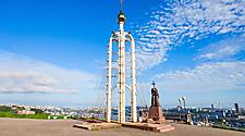 Chapel and Monument of Cyril and Methodius, Educators and creators of the Slavic alphabet Eagle Nest Mount in Vladivostok, Russia
