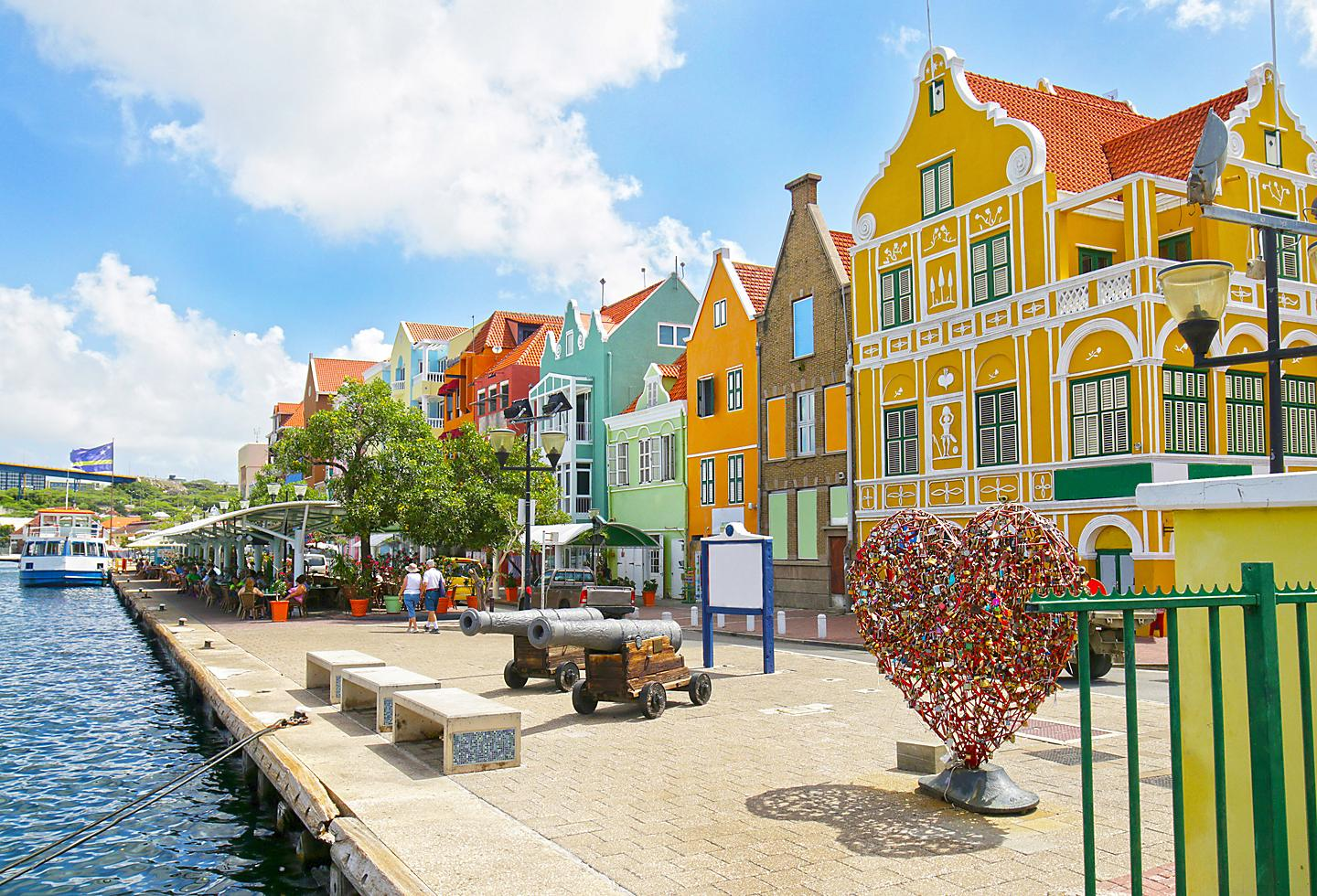 Curacao Wilemstad Colorful Traditional Homes