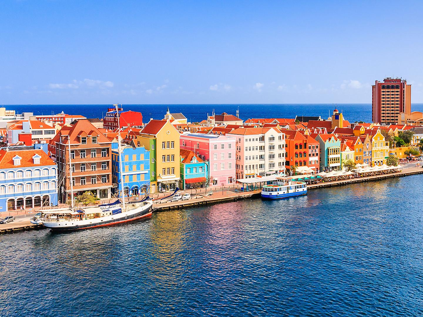 Willemstad, Curacao, Colorful Buildings