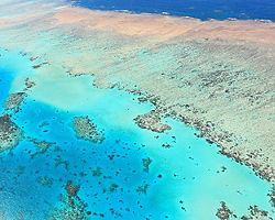 Aerial view of the Great Barrier Reef