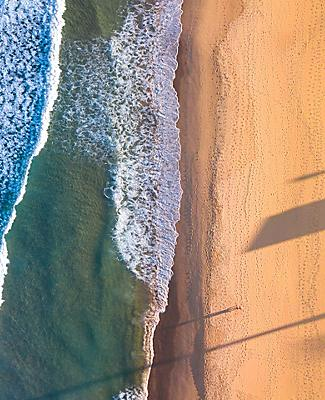 Aerial view of a beach in Australia