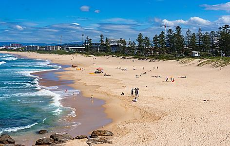 Wollongong beach in Australia