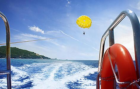 A yellow parasail in Australia