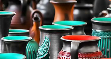 Local artisans sell handmade jewelry, woven blankets, onyx carvings and replicas of Mayan artifacts in Yucatan, Mexico