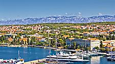 Aerial view of Zadar harbor in Croatia
