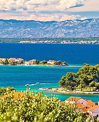 Islands off the coast of Zadar, Croatia