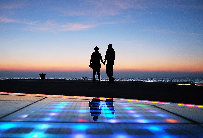 Croatia Zadar Solar Panel Light Show