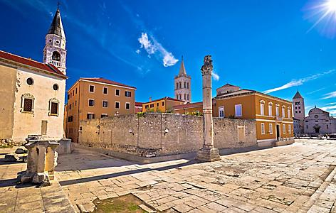 Ancient Roman landmarks in Zadar, Croatia