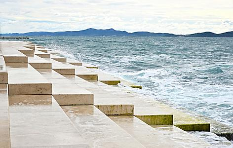 The famous Sea Organ in Zadar, Croatia