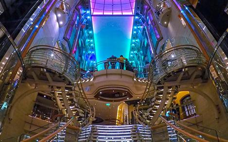 Explorer of the Seas Elevator Night Time